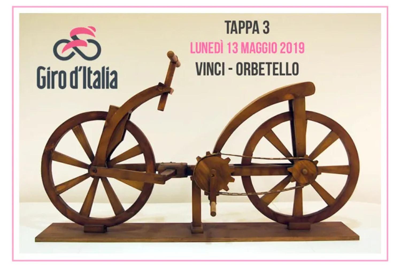 Il Giro d'Italia omaggia Vinci, per il cinquecentenario della morte di Leonardo